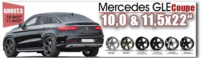 Mercedes GLE Coupe 22 Zoll GHOST.5 Drewske Tu