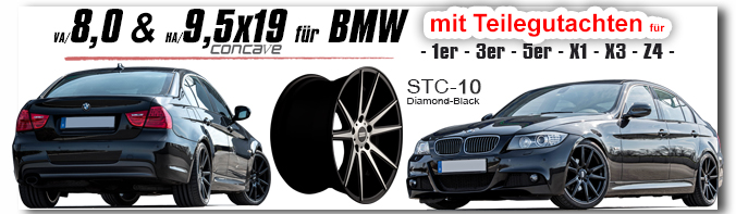 BMW 8,0 & 9,5x19 Zoll Fondmetal STC-10 co