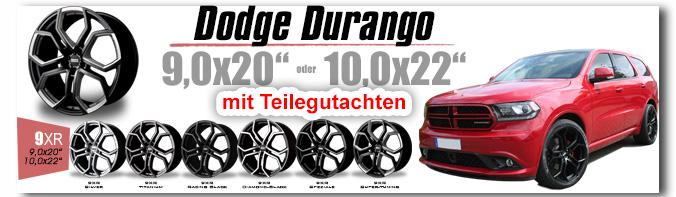Dodge Durango 20 / 22 Zoll 9XR