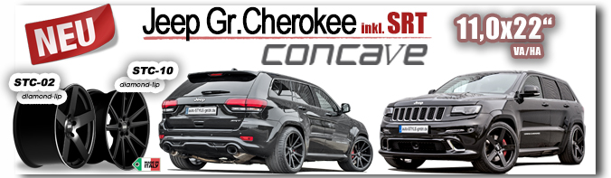 Jeep Grand Cherokee SRT 11,0x22 Zoll STC-01 -