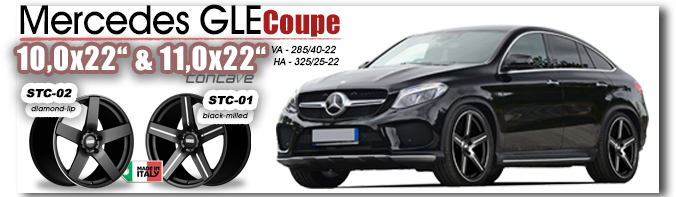 Mercedes GLE Coupe STC-01 STC 02 22 Zoll