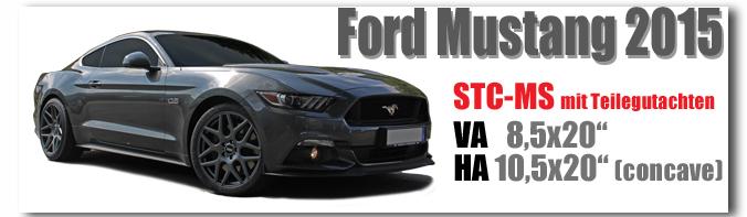 Ford Mustang 20 Zoll mit Teilegutachten