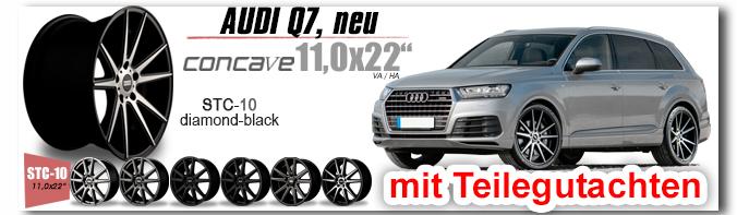 Audi Q7 NEU 11,0x22 Zoll STC-10 mit Teileguta