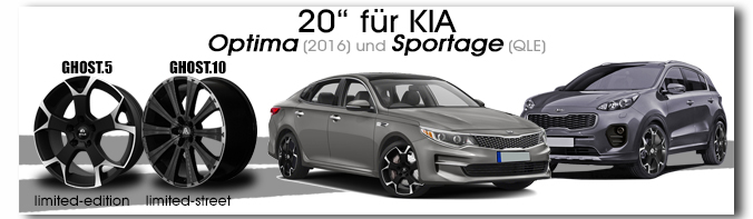 KIA Optima / Sportage GHOST 20 Zoll